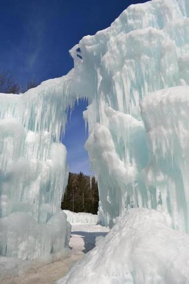 Walk arm-and-arm through the only Ice Castle on the East Coast.