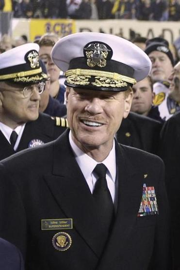 Vice Admiral Michael Miller moved forward on charges against Midshipman Josh Tate.