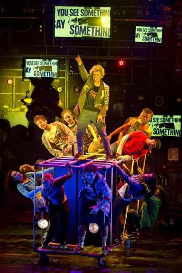 "Broadway in Boston brings ""American Idiot,"" with music by Green Day, to the Boston Opera House Feb. 7-9."
