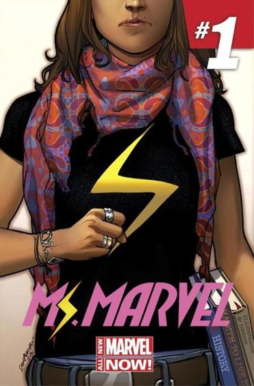 In the new Ms. Marvel debut, Kamala Khan is the first Muslim woman character to get a solo title comic series.
