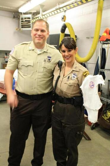 Chris Mancuso and Tina Stewart delivered the baby in an ambulance, then took mother and child to the hospital.