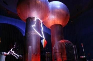 The Museum of Science's one-million-volt Theater of Electricity.