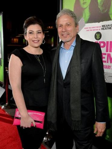 "Jillian Preger DeFrehn (left) and Michael Preger arrived at the premiere of ""Vampire Academy"" on Tuesday night."