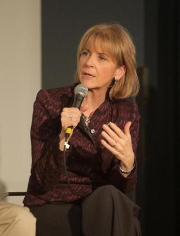 Martha Coakley spoke at the Globe's media lab debate last week.