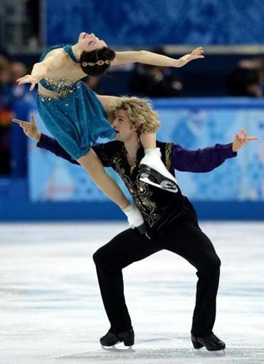 Figure skaters Meryl Davis and Charlie White of the US.