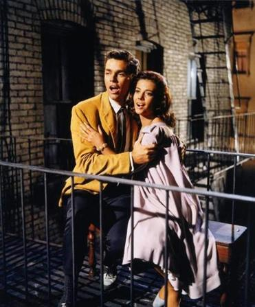 "Marni Nixon dubbed the vocals of Natalie Wood (above, with Richard Beymer) in the 1961 film ""West Side Story."""