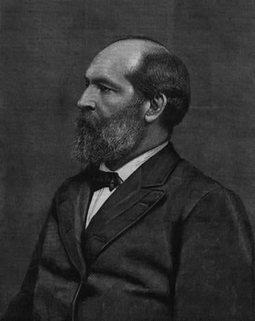 James A. Garfield, a compromise Republican nominee, was elected president in 1880.
