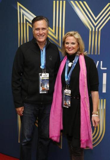 Former presidential candidate Mitt Romney and his wife, Ann, arrived for the Super Bowl earlier this month.