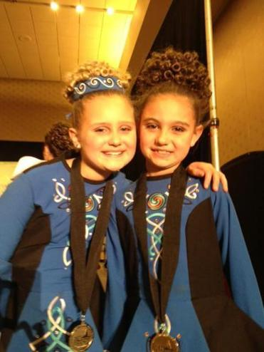 Abigail (left) and Jacqueline at a competition.