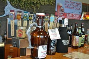 23oregon - The line up of craft brews is a familiar sight in Bend, the city dubbed Beer Town USA.