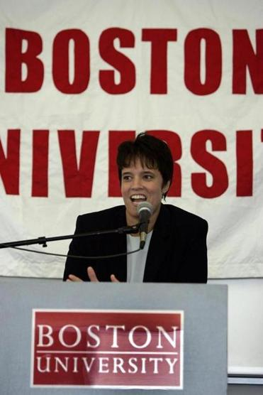 Kelly Greenberg was hired as Boston University's women's basketball coach in July 2004.
