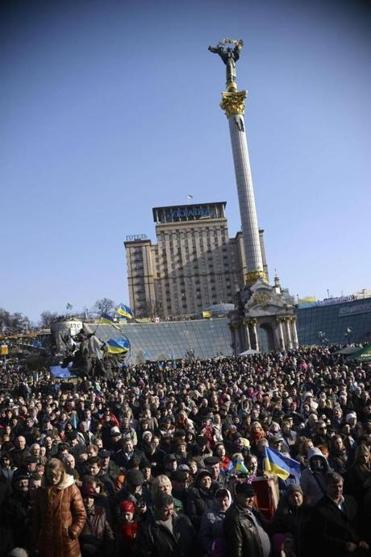 Tens of thousands attended a Kiev rally honoring the birth 200 years ago of Ukraine's greatest poet, Taras Shevchenko.