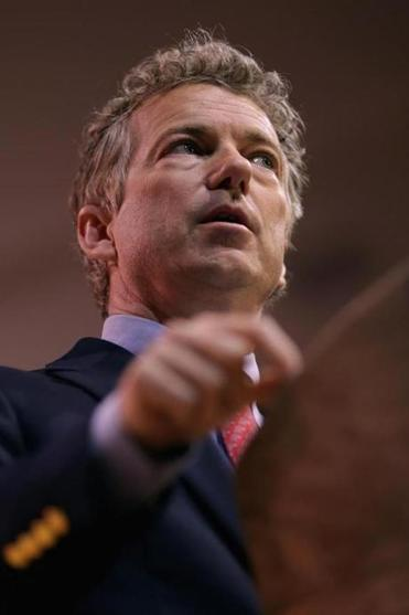 Senator Rand Paul addresses the Conservative Political Action Conference Friday in Maryland.