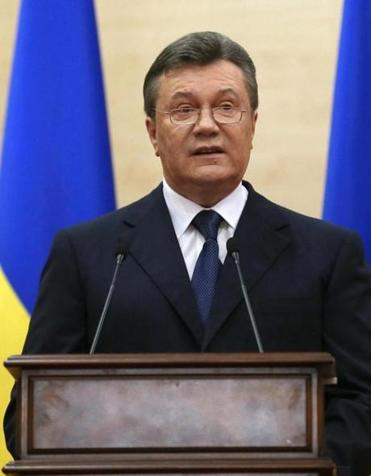"""You do not have any legal grounds to provide financial assistance to these bandits,"" ousted leader Viktor Yanukovych said."
