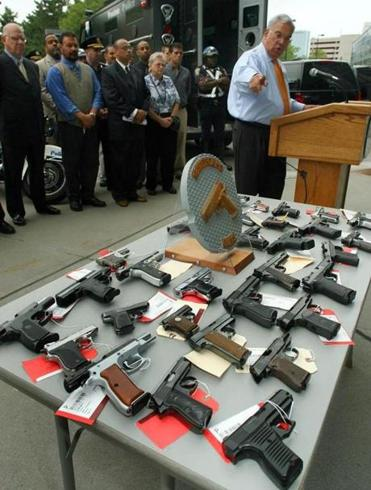Some of the guns turned in to the Boston Police Department in 2006.