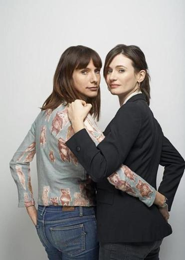 Dolly Wells (left)  and Emily Mortimer.