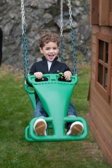 Charlene DeLoach, who blogs on Metrowest Mamas, said her 5-year-old son's favorite spot is a swing in the backyard.