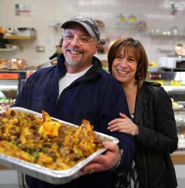 Josh and Lisa  Ruboy (top), who own The Butcherie II in Canton, provide glatt kosher foods including soups and prepared meals.