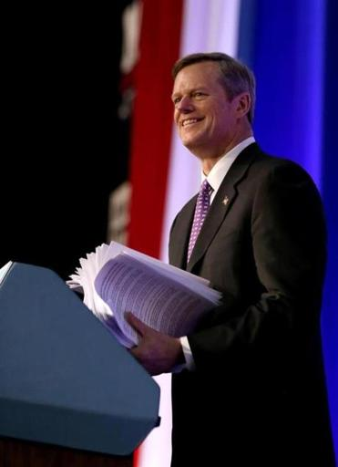 Massachusetts Republican Candidate for Governor Charlie Baker said he would be comfortable with a bill that would raise the state's minimum wage from $8 an hour to $10.50 an hour by the middle of 2016.