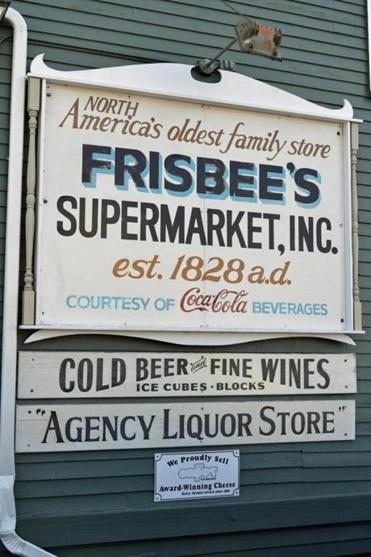 The old Frisbee's Supermarket stocks wine and gourmet items, breakfast and lunch sandwiches and salads.