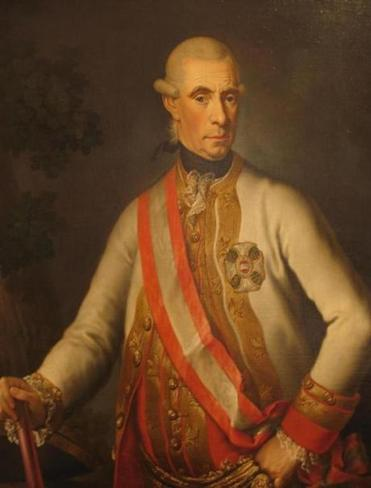 A portrait of Ernst Gideon, Baron von Laudon, an Austrian field marshal  famous for his exploits in the Austrian-Ottoman war.