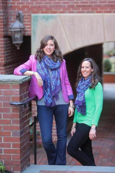 Megan Kelly (left) and Jessica Roy founded Tailored for Education, which provides school uniforms and shoes for needy children.