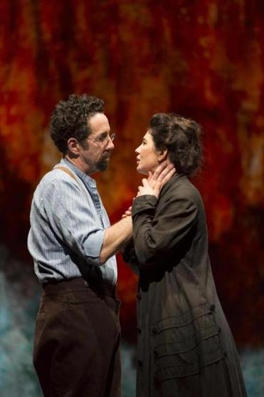 "Christopher Tarjan and Christina Pumariega in the Huntington Theatre Company's production of Melinda Lopez's ""Becoming Cuba."""