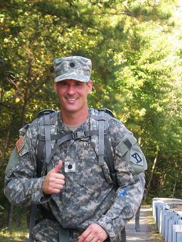 Scott Brown in the National Guard.