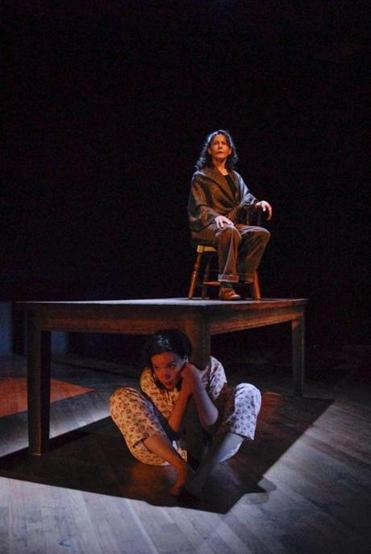 "Becca A. Lewis (front) and Lorna Nogueira in Whistler in the Dark Theatre's ""Far Away."""