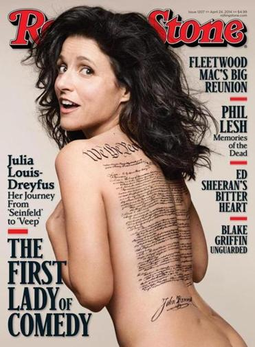 The Rolling Stone cover featuring Julia Louis-Dreyfus.