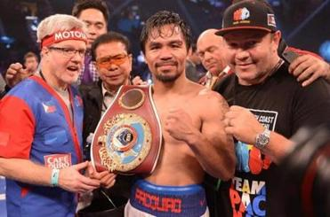 Manny Pacquiao celebrated the victory.