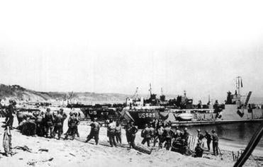 Allied forces practiced landings on the south coast of England.