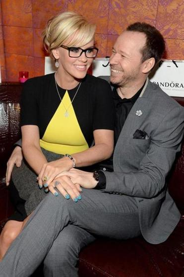 Jenny McCarthy and Donnie Wahlberg at the Pandora dinner.
