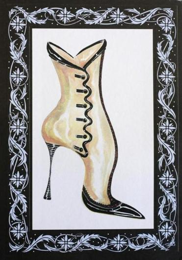 The invitation to the Manolo Blahnik fall 2014 fashion show in New York.