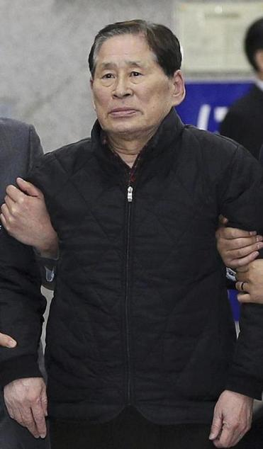 Kim Han-sik, president of Chonghaejin, was detained Thursday.