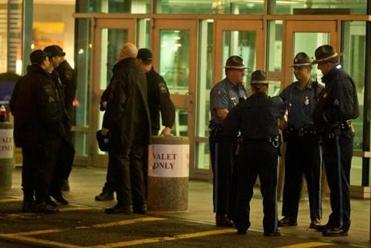Police stood guard outside of Beth Israel Deaconnes Medical Center where Dzhokhar Tsarnaev was being treated last year.