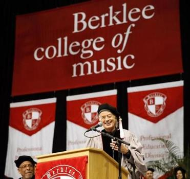 Page at Berklee College of Music's commencement ceremony.