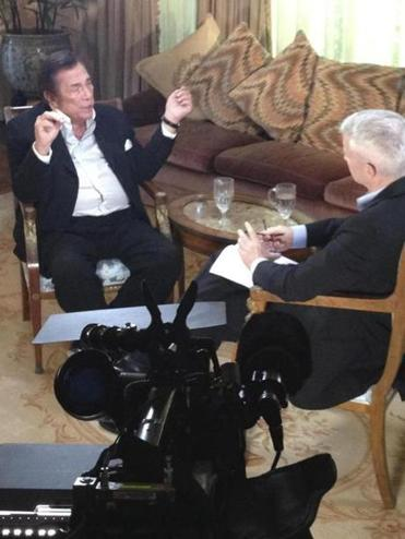 Donald Sterling spoke with CNN's Anderson Cooper in an interview broadcast Monday.