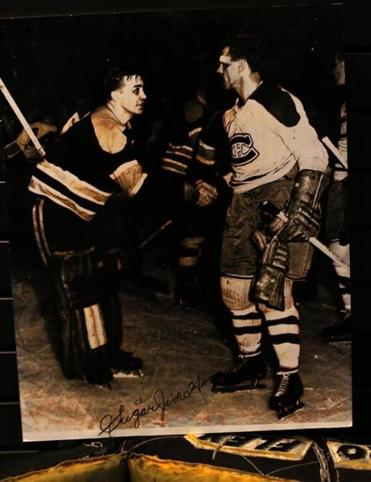 "In 1952, Bruins goalie ""Sugar"" Jim Henry and Canadiens legend Rocket Richard expressed respect  after a hard-fought semifinals series."
