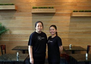 Ki Bistro co-owners Ling Tam (left) and An Nguyen