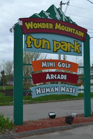 Wonder Mountain Fun Park offers two mini-golf courses, a game room, and a maze.