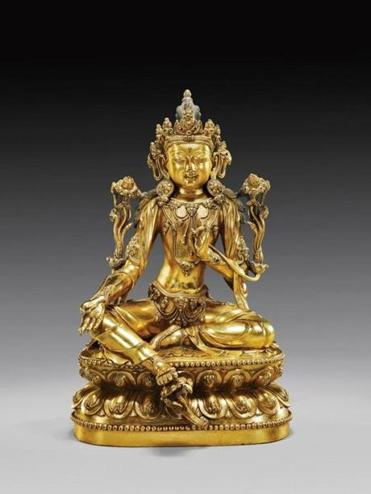 This 15th Century Chinese gilt bronze figure of a seated Bodhisattva sold through the Invaluable Platform in March 2014 for $280,000 through auction house I.M. Chait in Beverly Hills