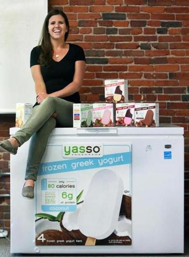 Amanda Klane, cofounder of Yasso frozen Greek yogurt, learned about food distribution by walking grocery stores with her father.