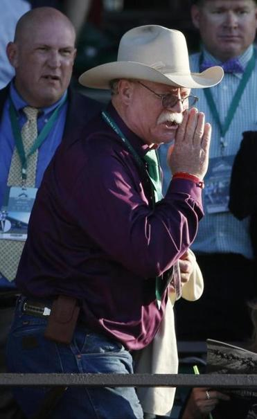 California Chrome co-owner Steve Coburn called from the grandstand after his horse finished fourth in the Belmont Stakes.