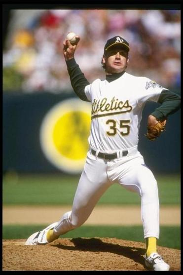 Bob Welch won 27 games for the A's in 1990, a year they made it to the World Series. Otto Greule /Allsport