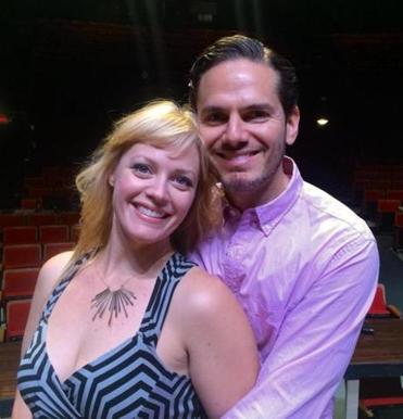 "Elizabeth Stanley plays Lilli and Paul Anthony Stewart is Fred in ""Kiss Me, Kate."""