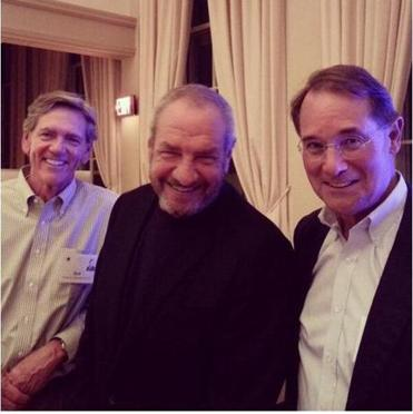Bob Marshall, Dick Wolf, and AC Johnston at the Phillips Academy  50th reunion dinner.