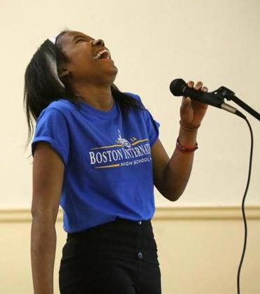It took a while for Cassania Gilson to feel comfortable speaking at her new school.