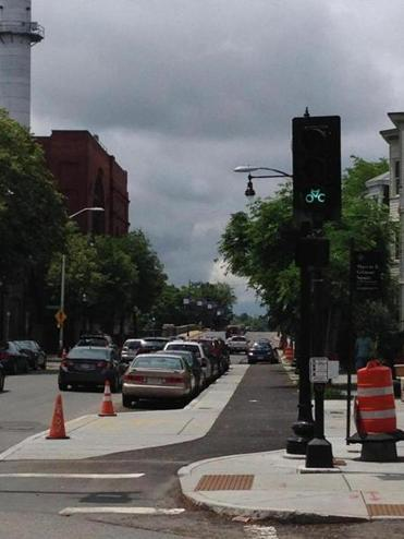Bicyclists in Cambridge get a new light on Western Avenue between Massachusetts Avenue and Memorial Drive.