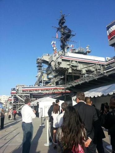 BIO attendees boarded the USS Midway for a reception.